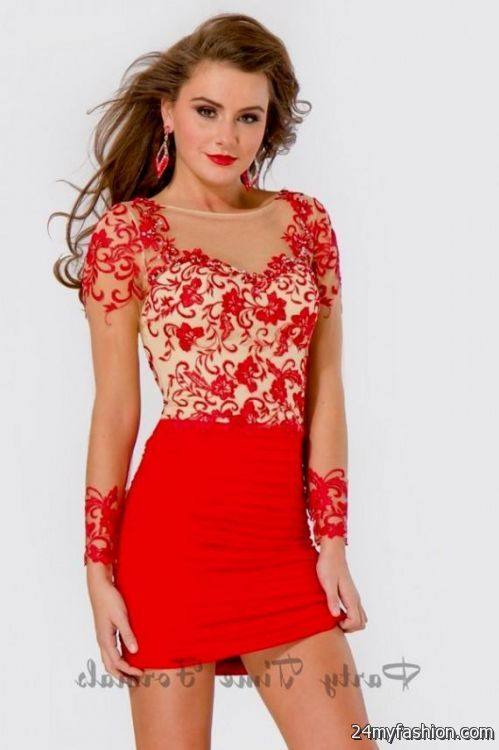 13cb004c1b8 You can share these short tight red homecoming dresses on Facebook