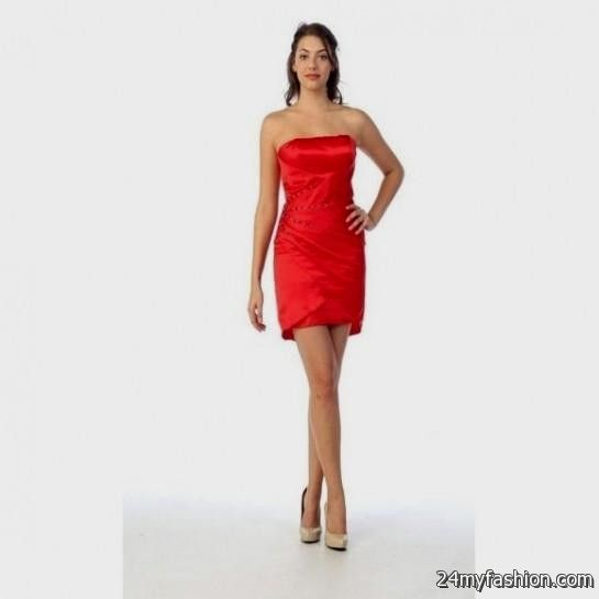 short tight red strapless dress 20162017 b2b fashion