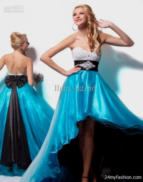 short turquoise and black bridesmaid dresses 2016-2017   B2B Fashion