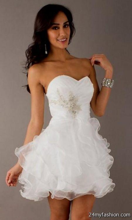 short white and gold prom dresses 2014 2016-2017   B2B Fashion