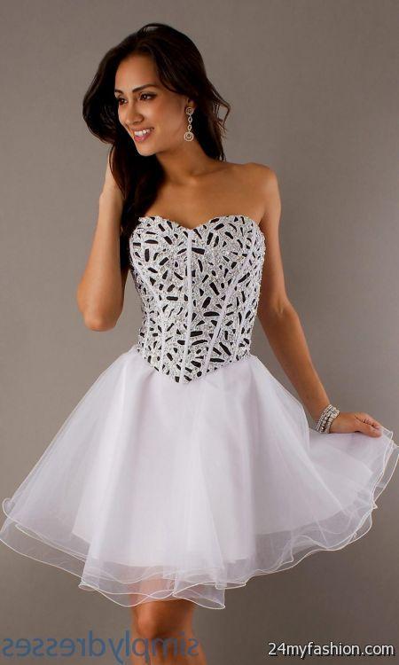 Short White Corset Prom Dresses Looks B2b Fashion