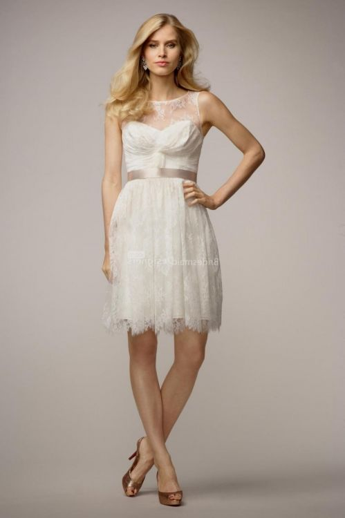 White Country Wedding Dresses 80