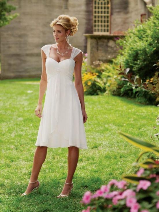 Short White Country Wedding Dresses Looks B2b Fashion