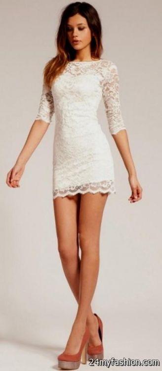 short white lace dress 2016-2017 » B2B Fashion