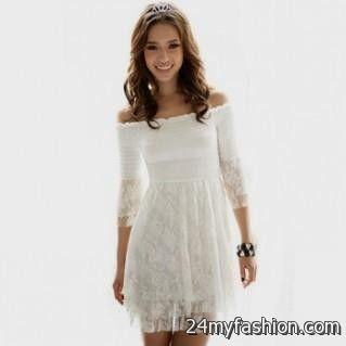 short white lace summer dress 2016-2017 » B2B Fashion