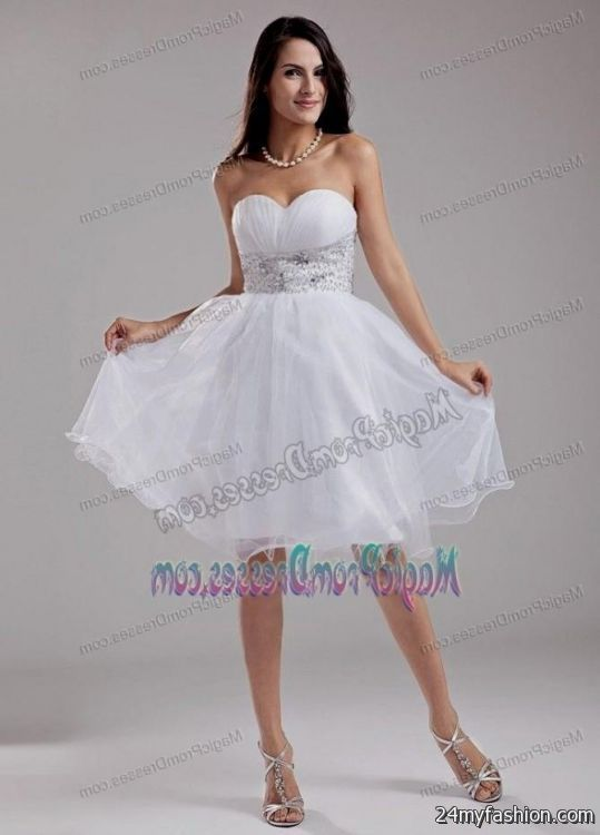 White dresses for 8th graduation