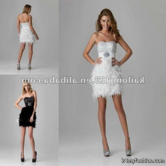 short white sequin wedding dress 2016-2017 | B2B Fashion