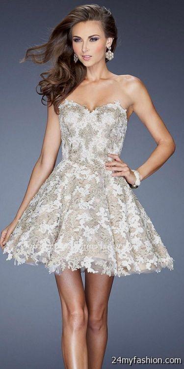 short white strapless prom dresses 2016-2017 » B2B Fashion