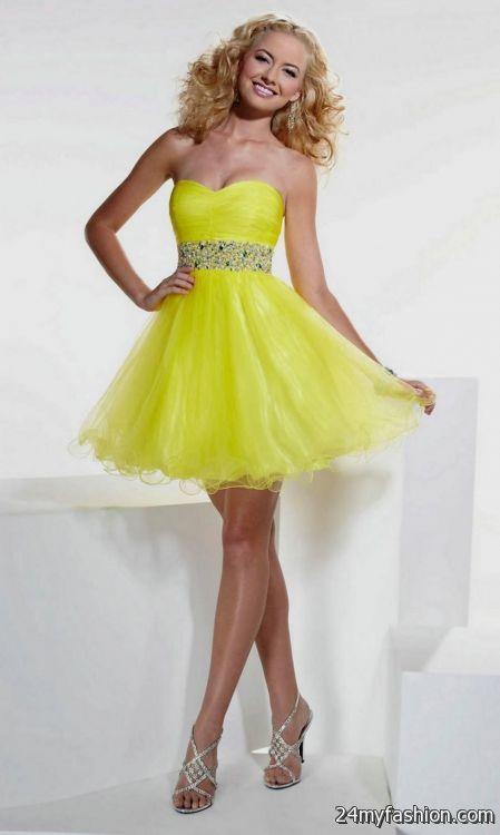 short yellow dresses for prom 2016-2017 » B2B Fashion