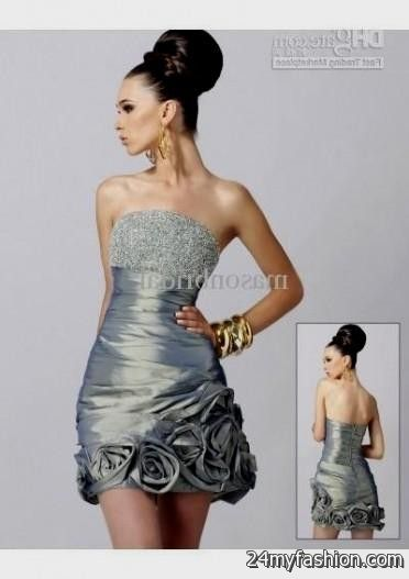 Trendy Grey Cocktail Dresses