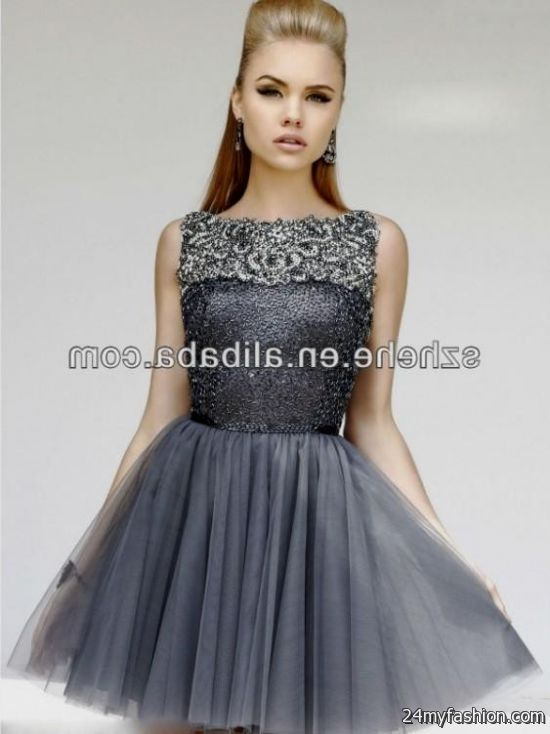 Grey Cocktail Dress - Ocodea.com