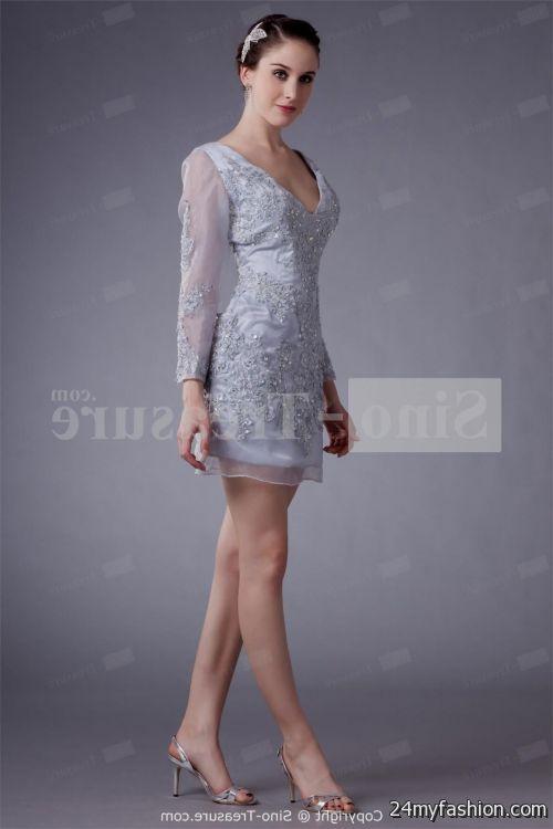 silver lace cocktail dress 20162017 b2b fashion