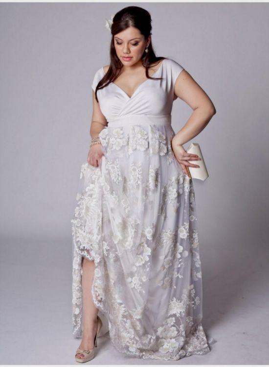 Silver Wedding Dresses Plus Size 2016 2017 B2b Fashion