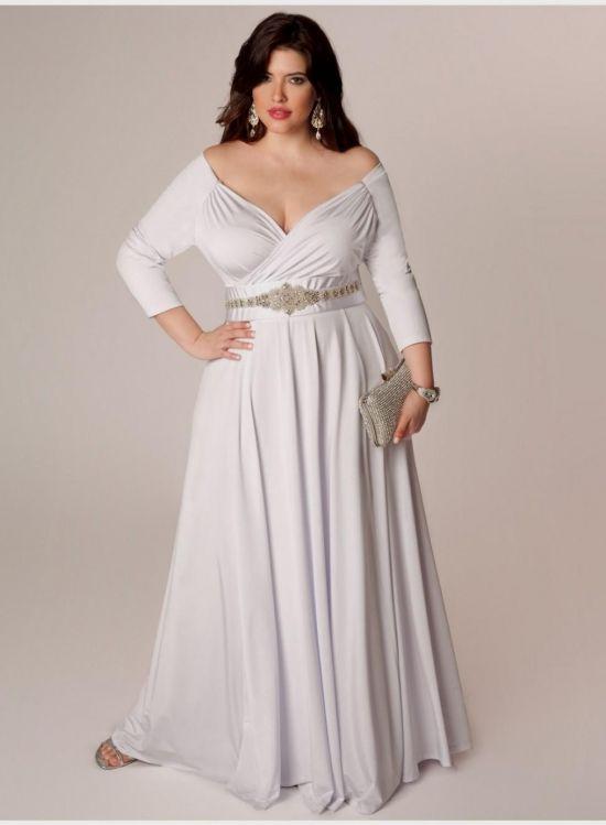 Plus size strapless maxi dress