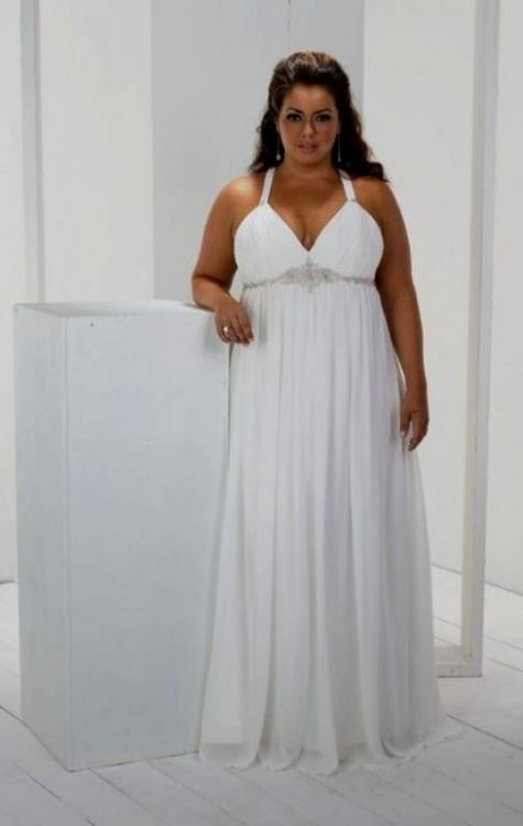 Simple Plus Size Beach Wedding Dresses 2016 2017 B2B Fashion