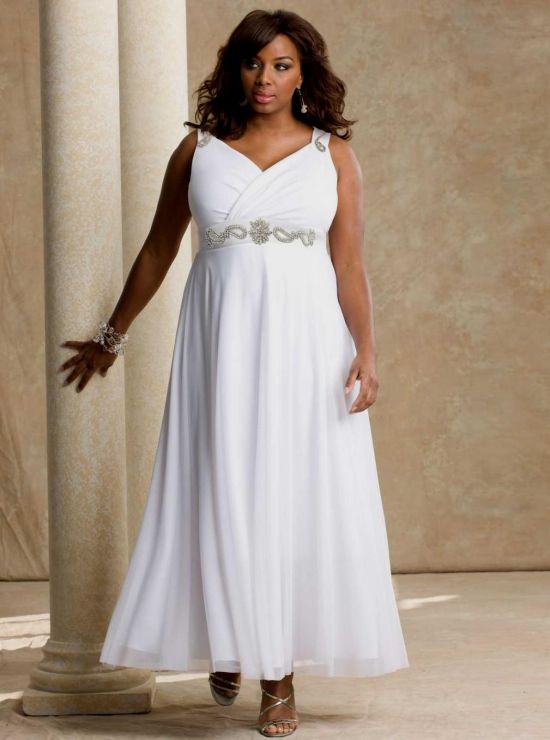 Simple plus size beach wedding dresses 2016 2017 b2b fashion for Plus size simple wedding dress