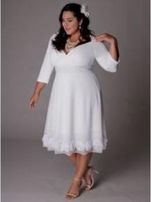 Simple Plus Size Beach Wedding Dresses Looks B2b Fashion
