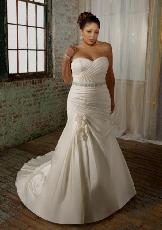 Simple Plus Size Wedding Dresses Not White Looks B2b Fashion