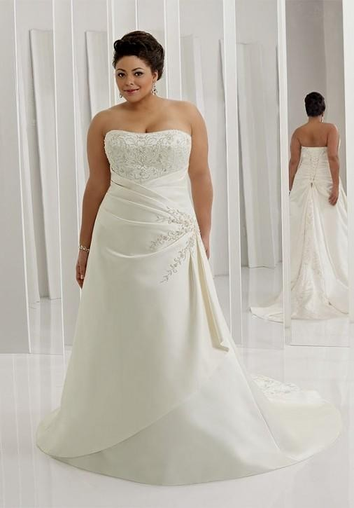 98 simple wedding dresses with color cheap simple for Cheap simple plus size wedding dresses