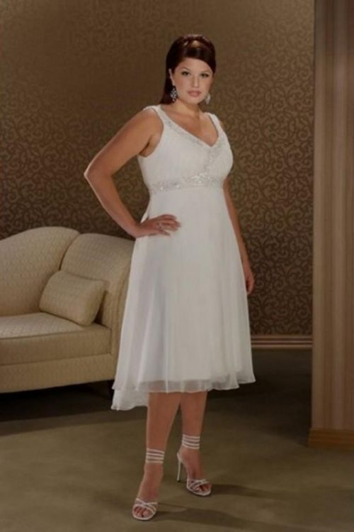 Simple Plus Size Wedding Dresses With Color 2016 2017