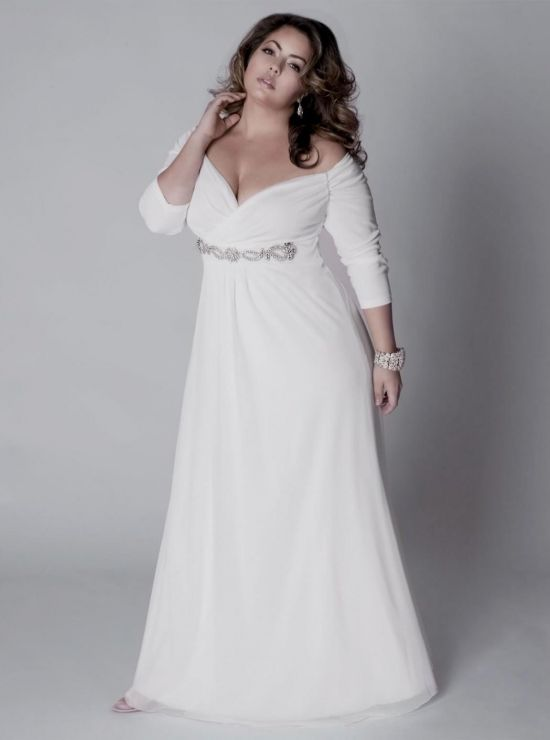 simple plus size wedding dresses with sleeves 2016-2017 | B2B Fashion