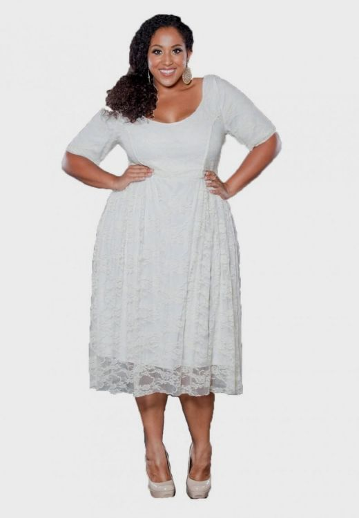You Can Share These Simple Plus Size White Dress On Facebook Stumble Upon My E Linked In Google Twitter And All Social Networking Sites