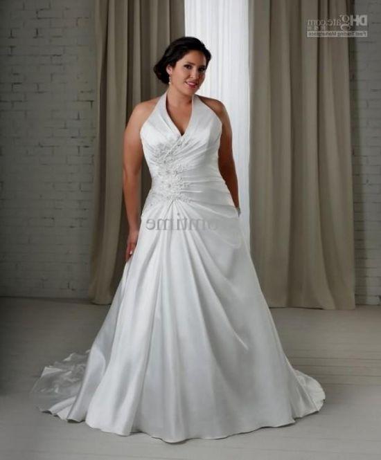 Plus Size Gothic Wedding Dresses 2016 2017: Simple White Plus Size Wedding Dresses 2016-2017