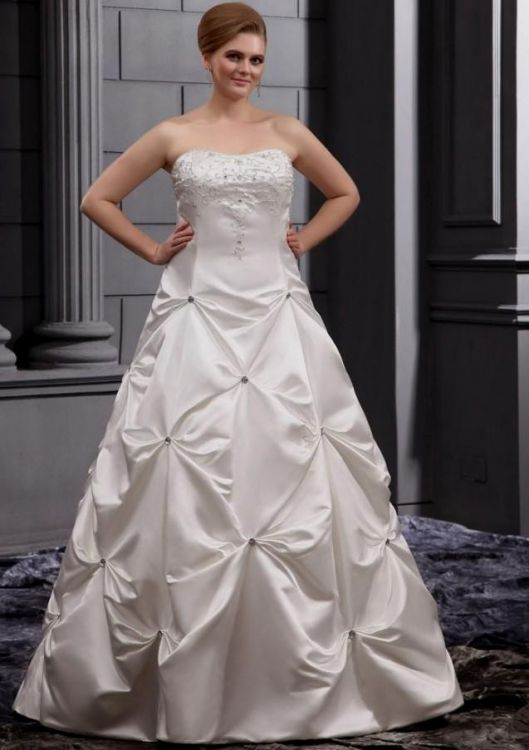 Plus size simple wedding dresses wedding dresses in redlands for Cheap simple plus size wedding dresses