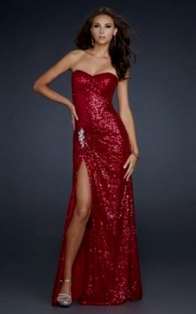 Sparkly Red Prom Dresses Looks B2b Fashion