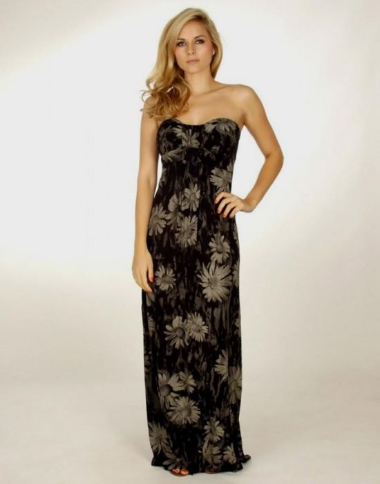 strapless summer maxi dress 2016-2017 » B2B Fashion