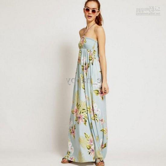 Summer Maxi Dresses Strapless
