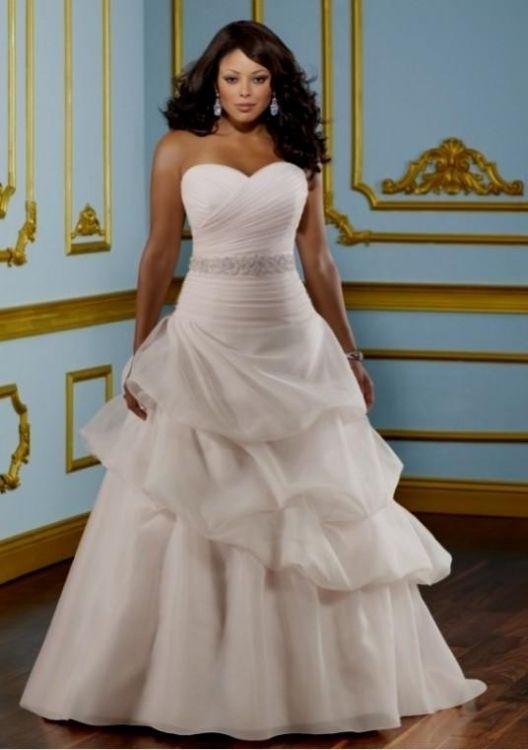 Strapless wedding dresses for plus size women 2016 2017 for Wedding dresses for plus size ladies