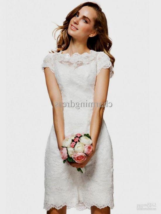 Knee Length White Lace Dress