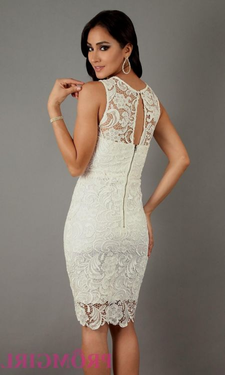 strapless white lace dress knee length 20162017 b2b fashion
