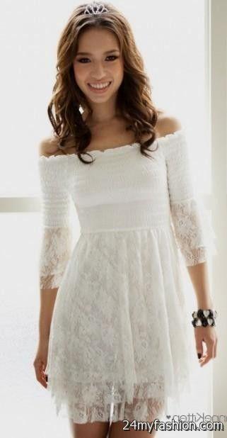 Strapless White Sundress