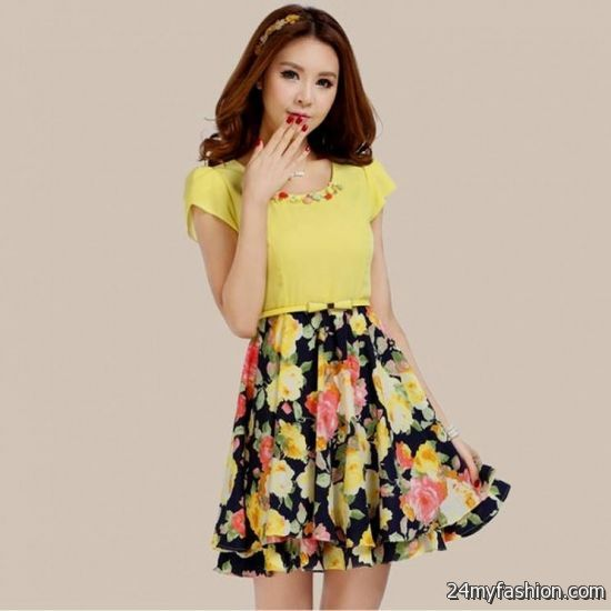 summer floral dresses with sleeves 2016-2017 » B2B Fashion