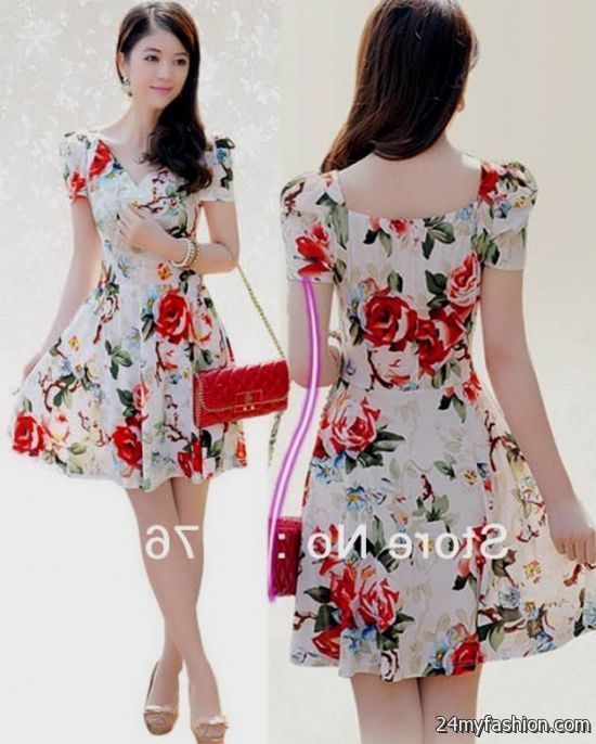 Summer Floral Dresses with Sleeves