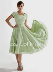 Summer Mother Of The Bride Dresses Tea Length - Short Hair Fashions