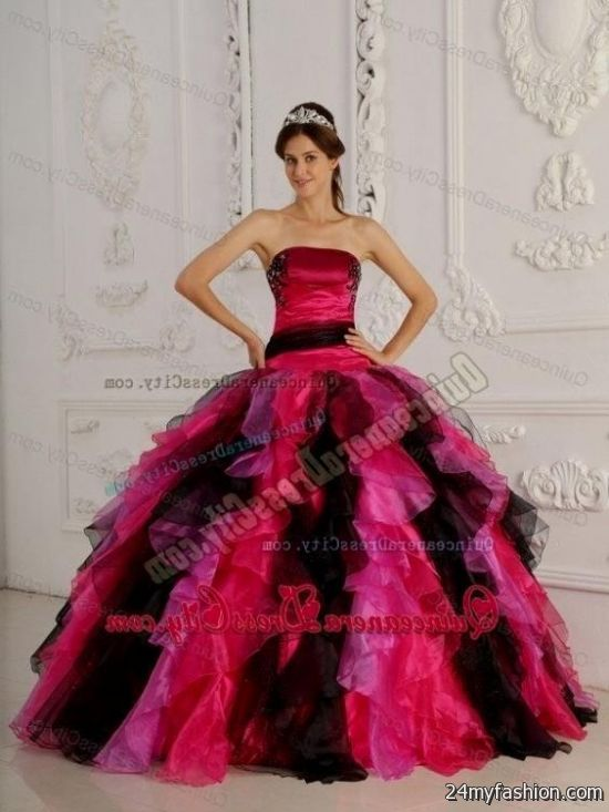 sweet 16 dresses pink and black short 20162017 b2b fashion