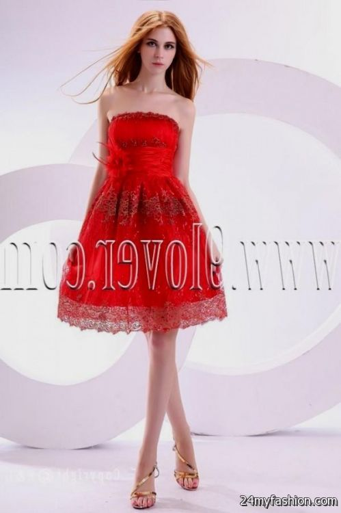 sweet 16 dresses red and gold short 2016-2017 » B2B Fashion