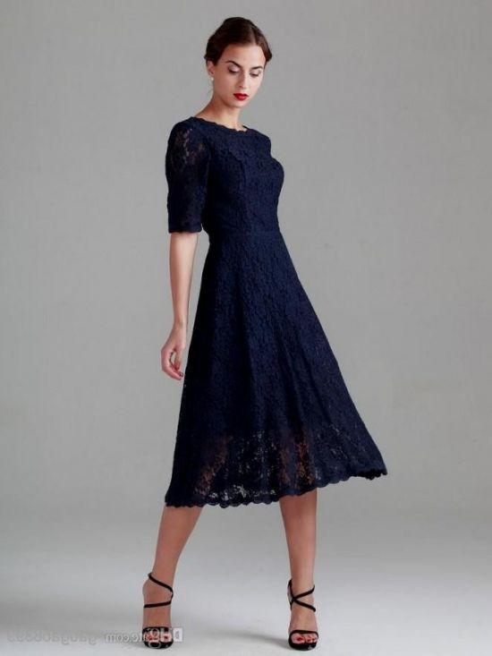 Tea Length Dress with Sleeves