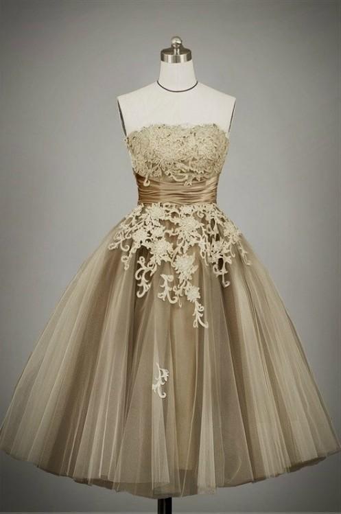 Tea Length Prom Dresses Vintage Looks B2b Fashion