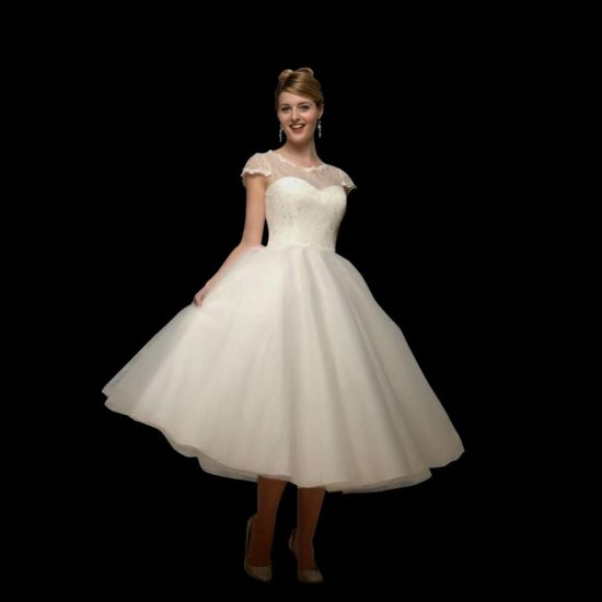 tea length wedding dresses with - 13.4KB