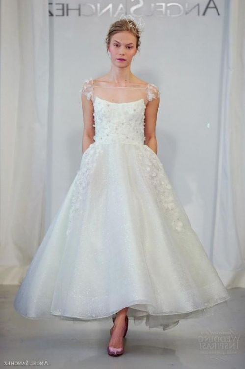 tea length wedding dresses with - 29.4KB
