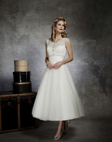 tea length wedding dresses with - 27.8KB