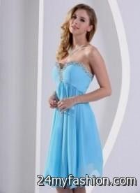 tiffany blue dama dresses short 2016-2017 » B2B Fashion