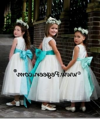 07d018d050b You can share these tiffany blue flower girl dresses on Facebook