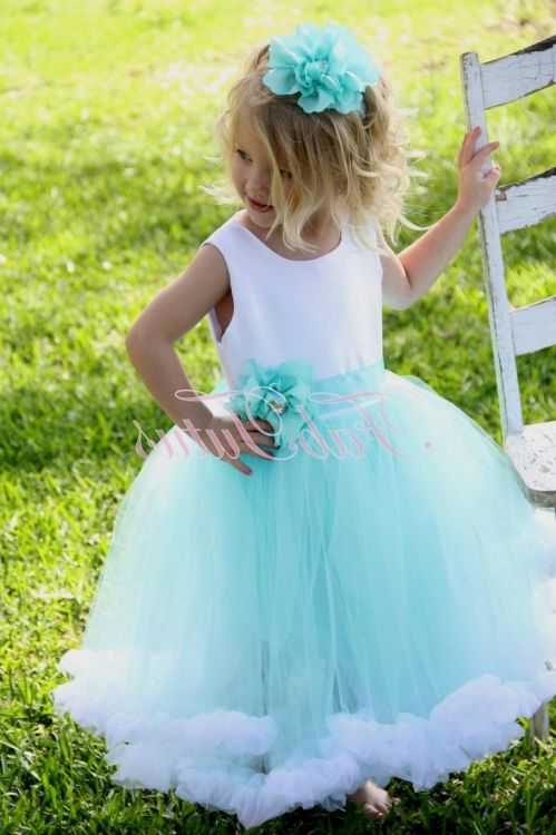 Tiffany Blue Flower Girl Dresses - Flower