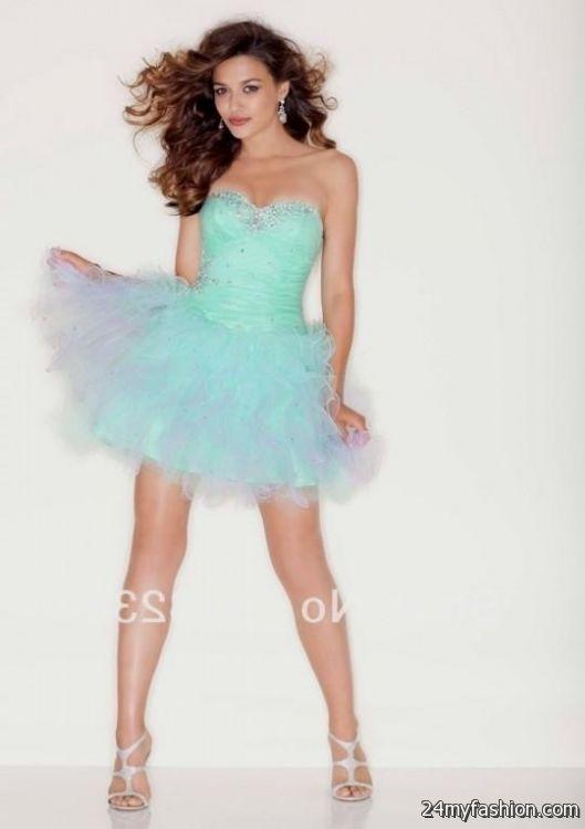 turquoise and white dama dresses looks | B2B Fashion