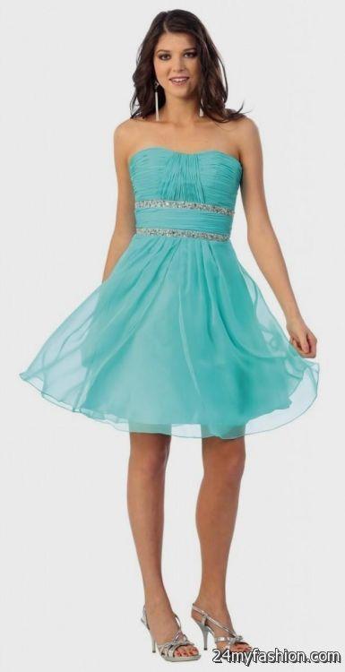 turquoise and white dama dresses 2016-2017 | B2B Fashion